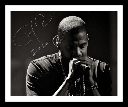 JAY-Z AUTOGRAPHED SIGNED /& FRAMED PP POSTER PHOTO