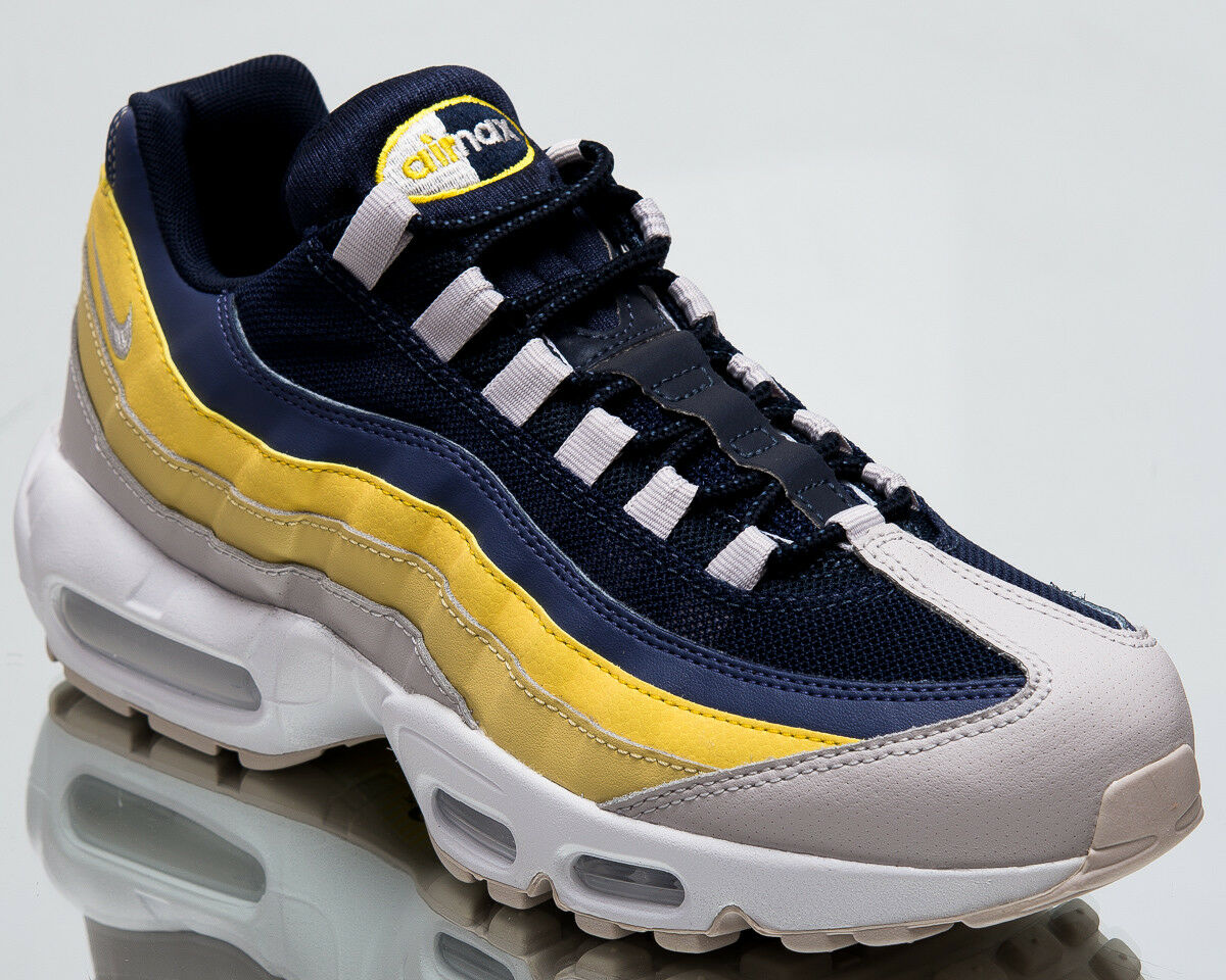 Nike Air Max 95 Essential Lemon Hommes Wash Hommes New Chaussures Hommes Lemon Gris Baskets 749766-107 791d9e
