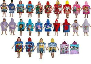 Kids-Boys-Novelty-Girls-Character-Hooded-Towel-Poncho-Beach-Bath-Swim
