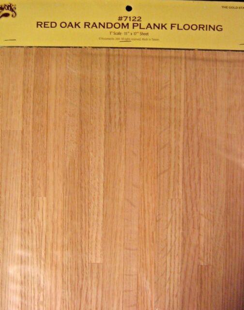 "Dollhouse Miniature Real Wood Flooring Houseworks Black Walnut 1:12 17/"" x 11/"""