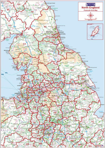 Postcode Area Map 3 Northern England
