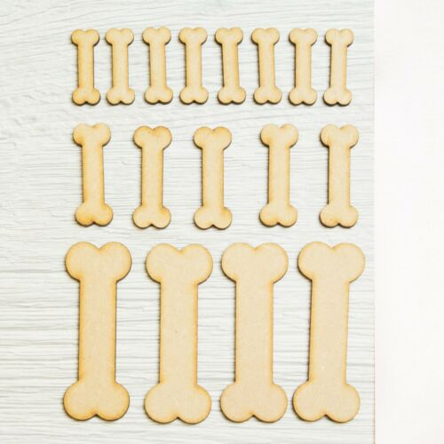 Wooden Skeleton Bones Craft Skeleton Blank Halloween Card Making Decor Art MDF