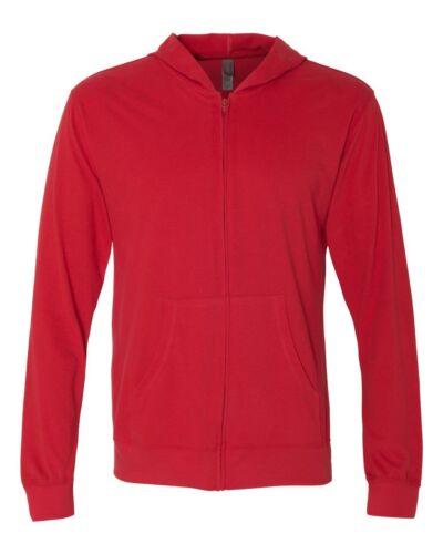 NEW Next Level Unisex Sueded  Zip Hoodie Mens Ladies Hooded T-Shirt-6491 XS-3XL