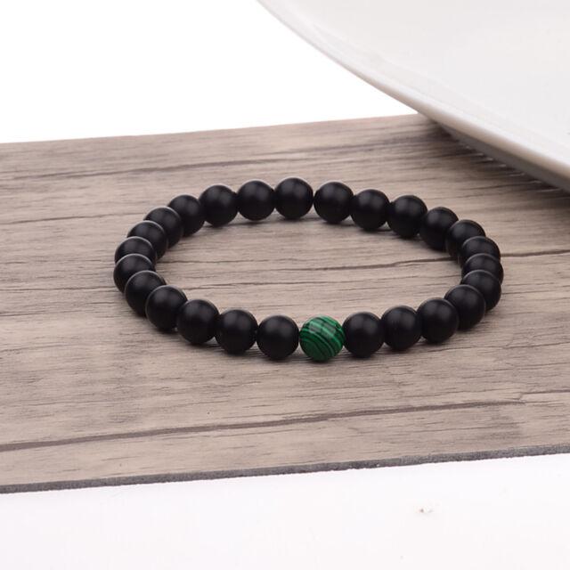 8mm Natural Stone Malachite Beads Energy Reiki Charm Bracelets Valentines 2018