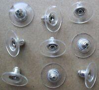 """""""U.K SELLER"""" 10 (5 PAIRS) SILVER/PLASTIC EARRING BACKS STOPPER EAR NUTS"""