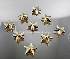 50 Hotfix Bügelnieten Nieten zum aufbügeln Stern Gold  8 mm  Karostonebox