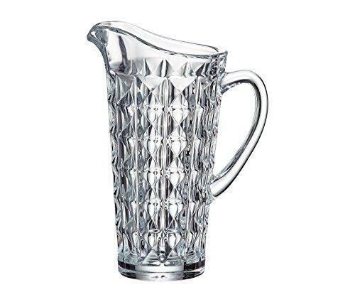 (D) cristal de bohême  Diamant  Pitcher 42 oz, durable sans plomb verre