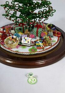 For-Westrim-Beaded-Miniature-Christmas-Tree-Holly-Cup-and-Plate-Set-for-Santa