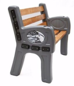 EZ Bench - Custom Outdoor Bench - Plastic Bench ends: America Edition ...