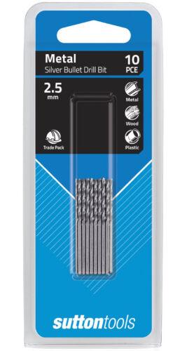 SUTTON SILVER BULLET 2.5mm METRIC JOBBER DRILL BIT BULK PACK PACK OF 10