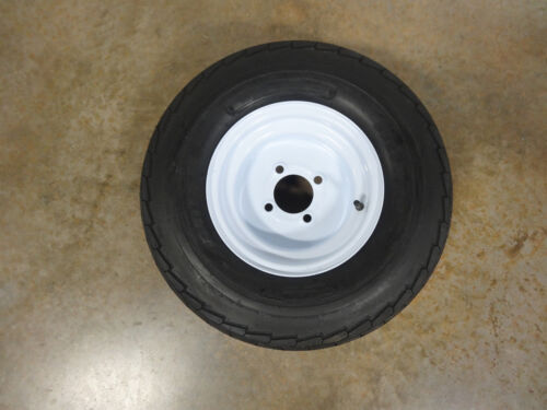 TWO New 20.5X8.0-10 Deestone Trailer Tires 10 ply on 4 Hole Wheels 20.5X8.00-10