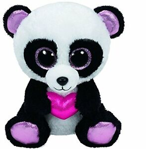 b3a9f8425eb Ty Beanie Boos Cutie Pie The Panda with Heart Plush by Ty