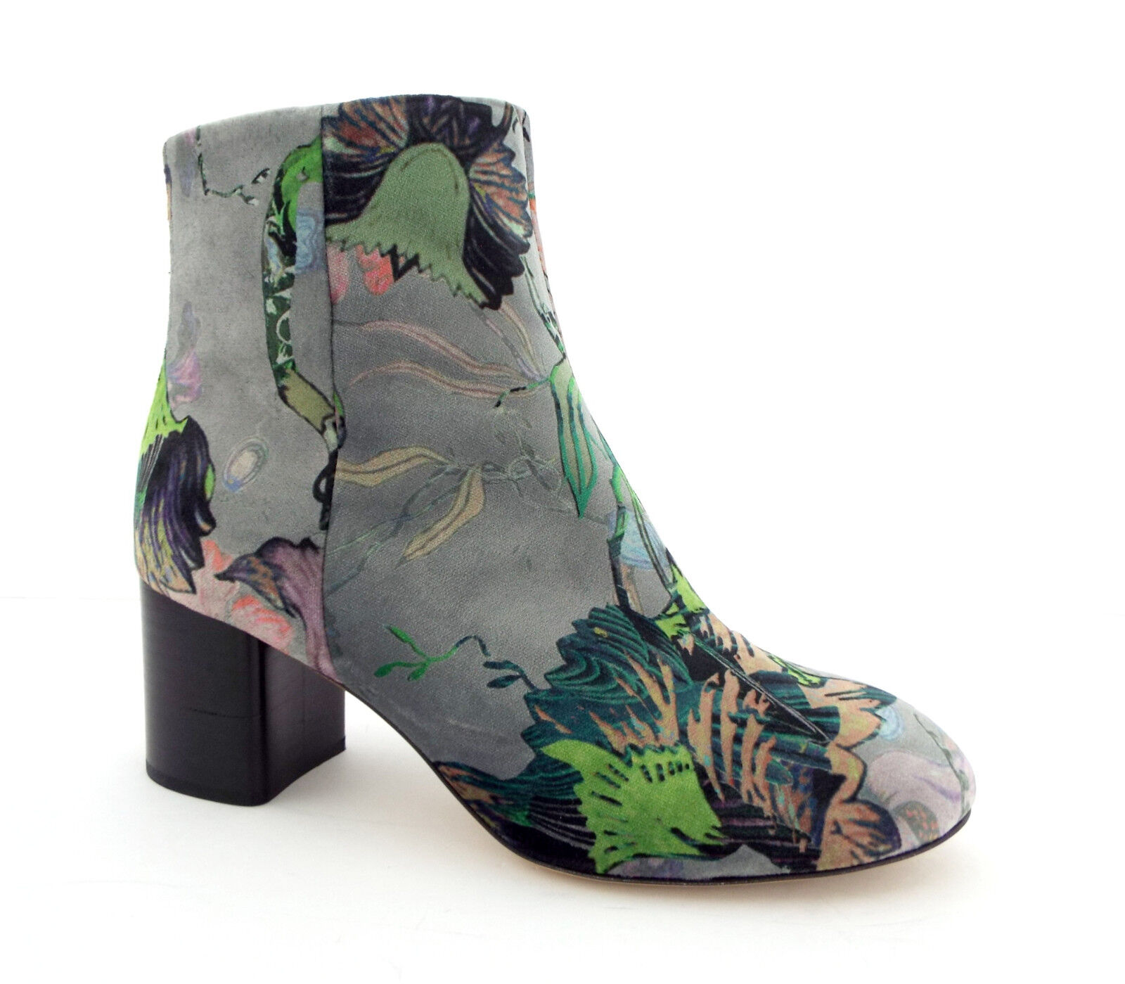 New RAG & BONE Size 7.5 DREA Floral Velvet Ankle Boots Shoes 7 1/2 NIB
