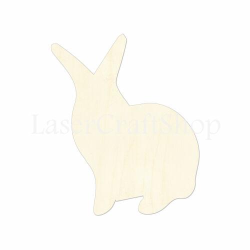Rabbit Wooden Cutout Shape Silhouette Tags Ornaments Laser Cut #1019