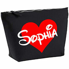 Personalised Valentines Gift lMake Up Wash Bag ANY Name Kids Birthday Present