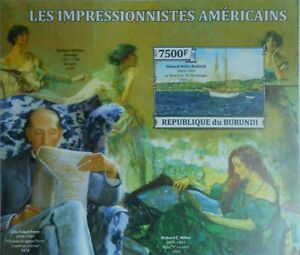 Art Professional Sale Paintings American Impressionists Painting S/s Burundi Sc.1416 #bur13317b Imperf