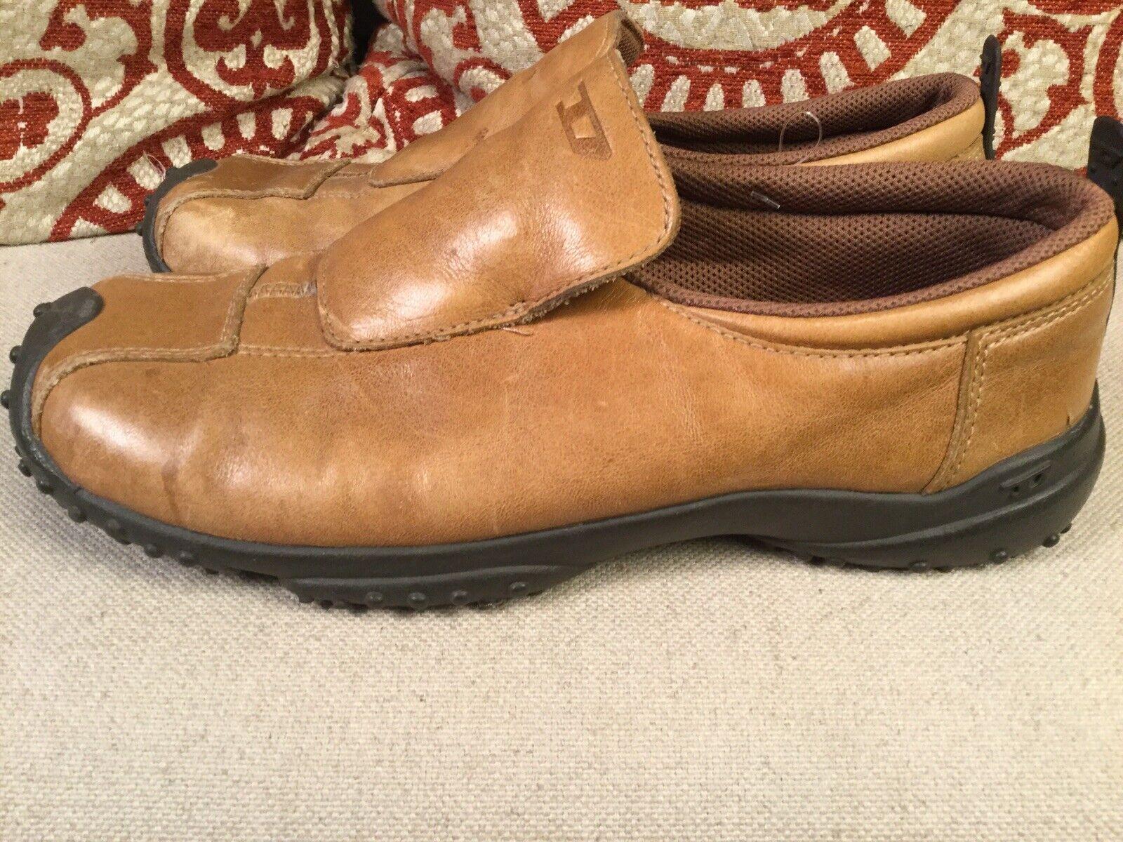 Diesel Ovado Men Leather Brown Slip On Fashion Sneaker Casual Dress shoes 8M
