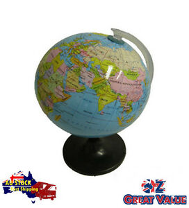 14-16cm-Quality-Universal-Globe-on-Stand-Spining-Revolving-Glossy-TOM-S601A