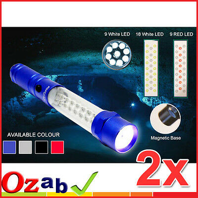 2x 35-LED Multi-Purpose Worklight Torch w Emergency Light Magnet Car Emergency