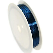 Fil de Cuivre 0,4mm – 17 mètres Bleu pour Bijoux et Loisir Créatif