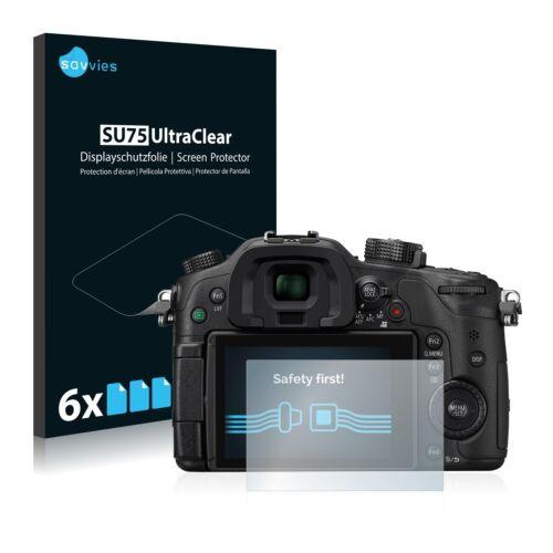 6x láminas protectoras de pantalla para Panasonic Lumix dmc-gh4 claro transparente