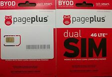 Page Plus 4G LTE DUAL CUT SIM Card use with Verizon 4G LTE phones!