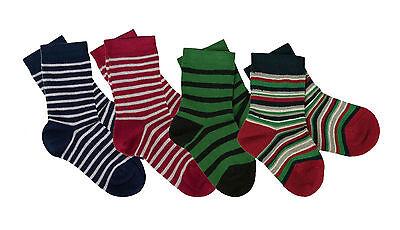 IOBIO Socks ORGANIC COTTON infant baby toddler children boy girl kid eco striped