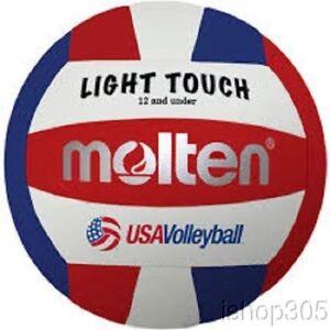 MOLTEN-MS240-3-Recreational-Light-Touch-Volleyball-12-amp-under-Outdoor-Indoor