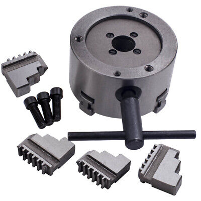 4 Jaw Chuck Self-Centering with Spare Jaws for Lathe Milling K12-100  Tool