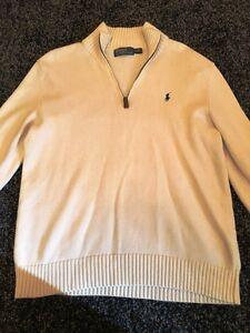 Polo-by-Ralph-Loren-white-jumper-size-M