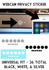 Privacy Camera Webcam Sticker Cover Black White Silver Laptop Tablet Cellph