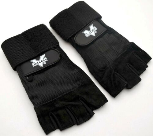 NEUF VALEO VA4561SM glly Bracelet Wrap Haltérophilie Gants 2 Noir VA4561 Petit