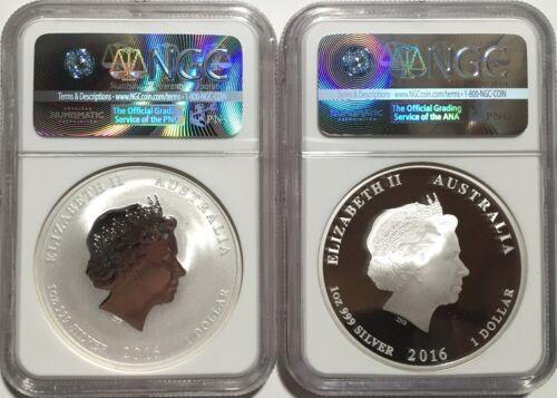 2016 SET OF 2 MS /& PF 70 Australia $1 1oz Silver Lunar Year of Monkey NGC ER