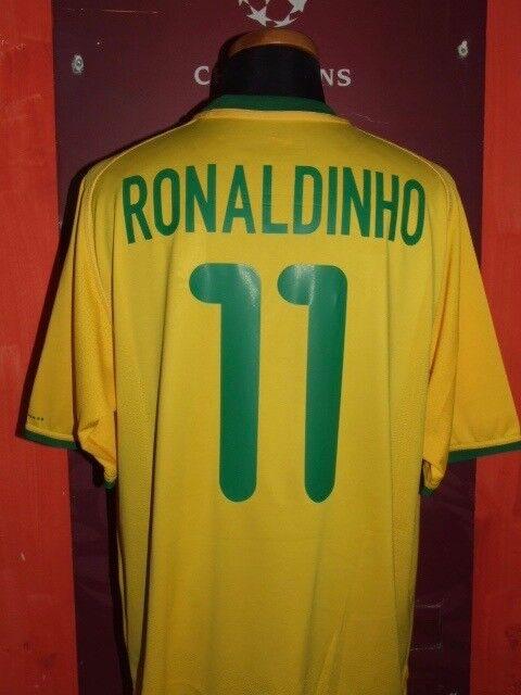 RONALDINHO BRAZIL 2000 MAGNLIA SHIRT CALCIO FOOT MAILLOT JERSY CAMISETA