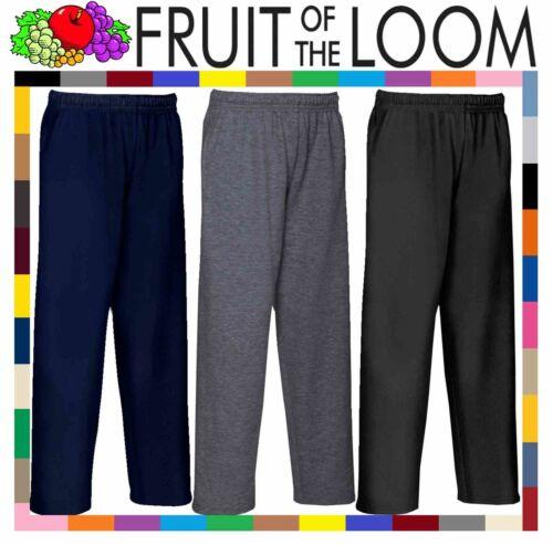 Unisex Fruit of the Loom Kids Lightweight Jog Pants SS965 Open Hem Fleece Pants