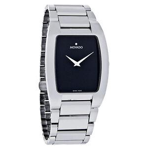 Movado-Fiero-Mens-Black-Dial-Platinum-Tungsten-Carbide-Swiss-Watch-0605621