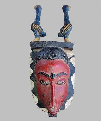 42) Baule Maske Alt Afrika / Masque Baoule Ancien / Old Tribal Baule Mask Duftendes (In) Aroma