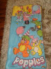 Vintage 1986 Youth Childrens Popples Sleeping Bag Popple EUC! RARE!!
