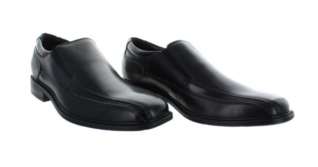 Kenneth Cole New York Black Leather Dress Shoes Loafers Size 9.5