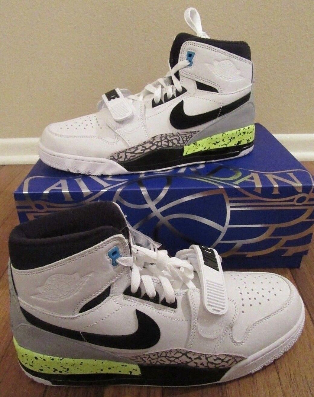 the latest 5784d efde8 Nike Air Jordan Legacy Legacy Legacy 312 NRG Size 11.5 White Black Volt  Vivid bluee AQ4160