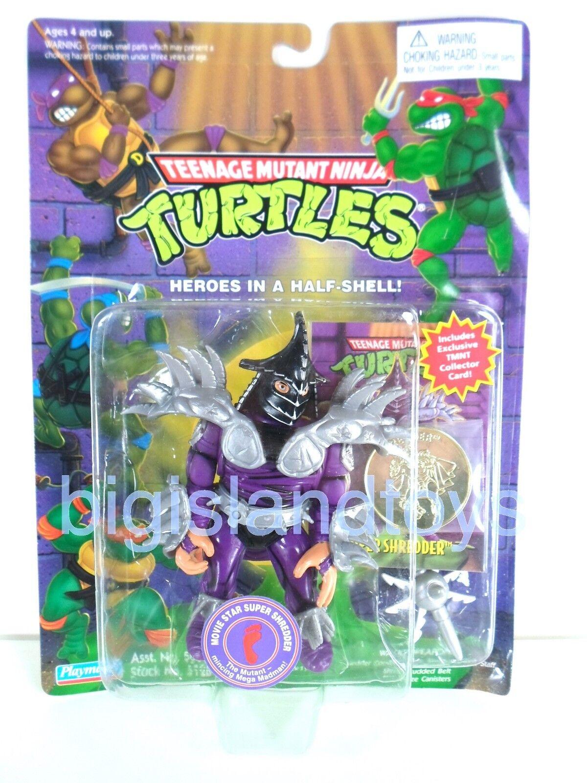 Teenage Mutant Ninja Turtles Playmates estrella de cine Super Shrossoder Con Moneda Y Tarjeta