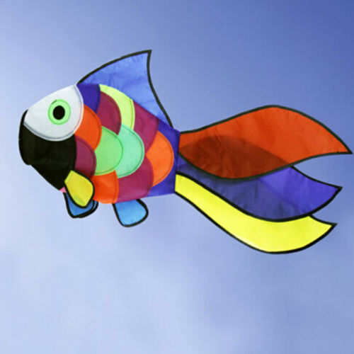 Rainbow Fish Kite Windsock Outdoor Garden Decor Kids Line Laundry Kids OWD