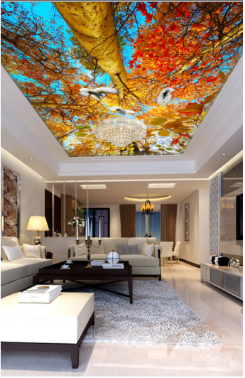 3D Forest 47 Ceiling WallPaper Murals Wall Print Decal AJ WALLPAPER US