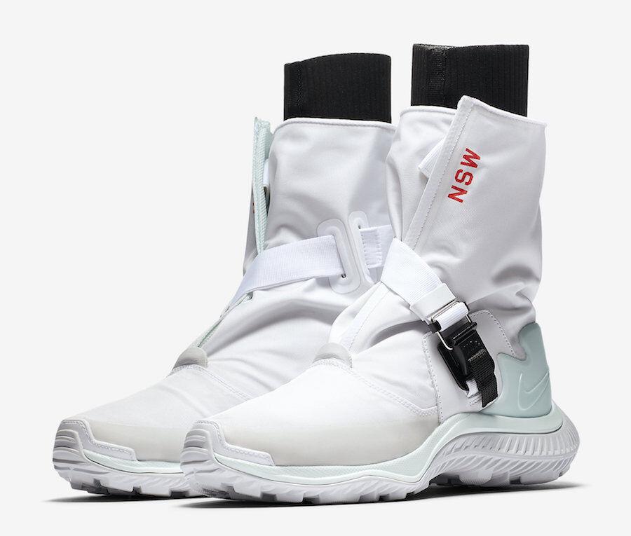 NIKE Da Donna Gaiter Boot White Barley Green Tg. aa0528-100 Sneaker Scarpe Bianco Tg. Green 36,5 a77ac5