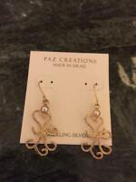 Stunning Paz Creations Sterling Silver Pearl Earrings