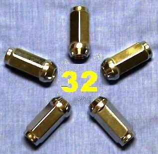 32 WHEEL LUG NUTS 9//16x18 C K D W F 250 350 2500 3500 RAM SILVERADO SIERRA