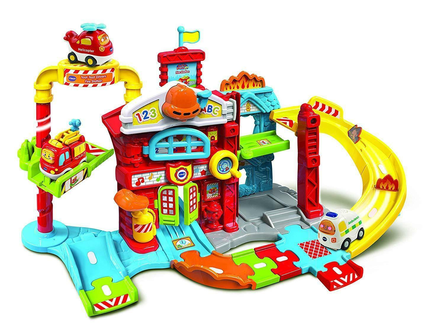 NEW VTech Toot-Toot Drivers Fire Station Kids Educational Musical Toy Gift Idea