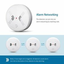 Combination Carbon Monoxide Poisoning Gas Warning Smoke Alarm CO Smoke Detector