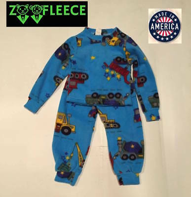 ZooFleece Boys Blue Kids Pajama Robe Nightgown Space Planet Fleece Thermal Belt