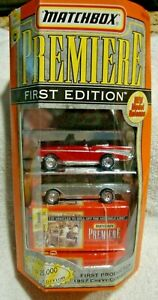 Matchbox Premiere First Edition First Production 1957 Chevy Convertible Sealed